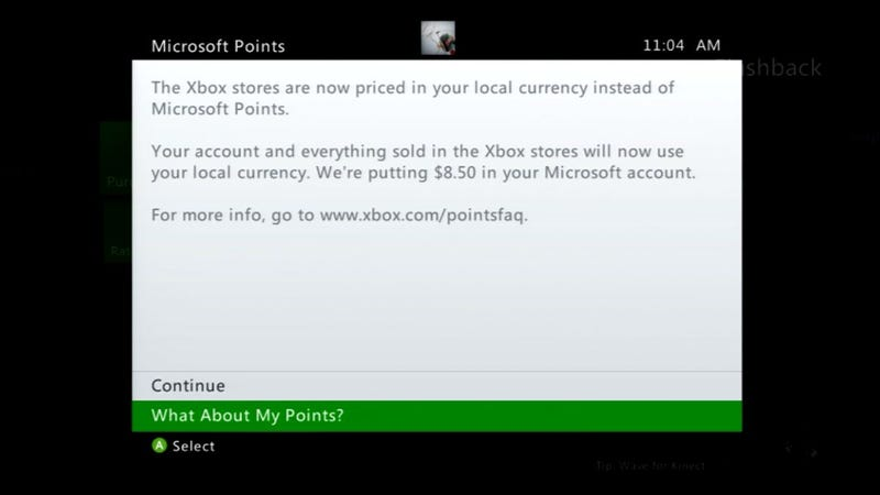 Your Microsoft Points Will Be Exchanged for Real Money Today