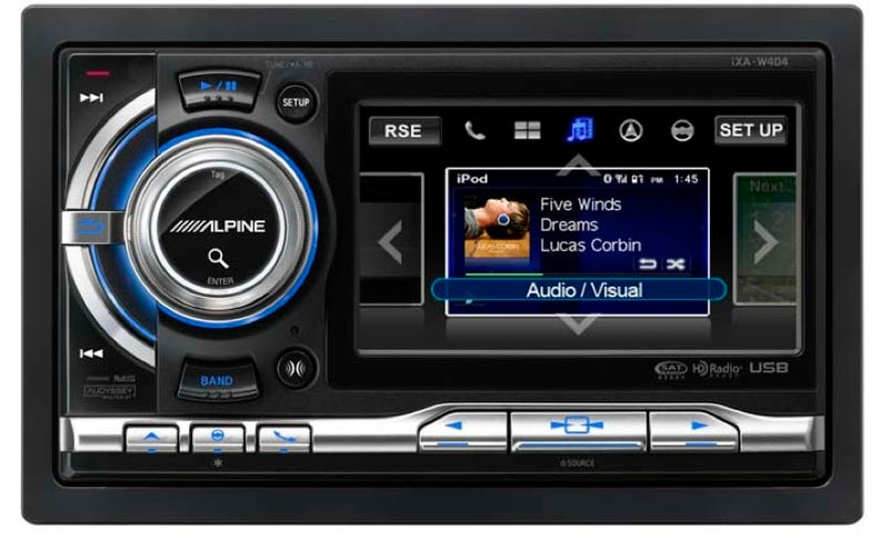 The iXA-W404 is Alpine's First Touchscreen iPhone Compatible Car Receiver