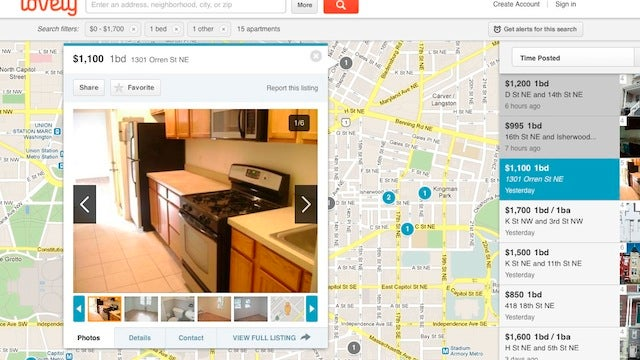 Lovely Collects Apartment Listings, Organizes Them, Drops Them On a Google Map