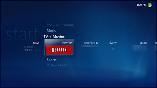 Netflix Instant Streaming Coming to Windows Media Center on Your PC