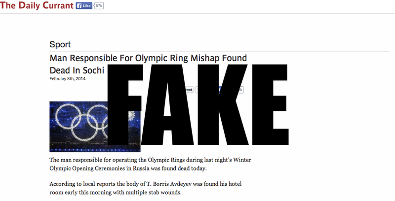 The Story About The Russian Dying Over The Botched Olympic Ring Is Fake