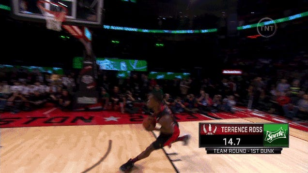 GIF: Terrence Ross's First Dunk