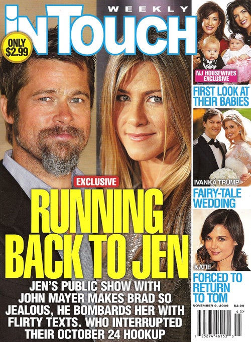 This Week In Tabloids: Brad Crashes Motorcycle Rushing To Jen; Celebs ♥ Nose Jobs