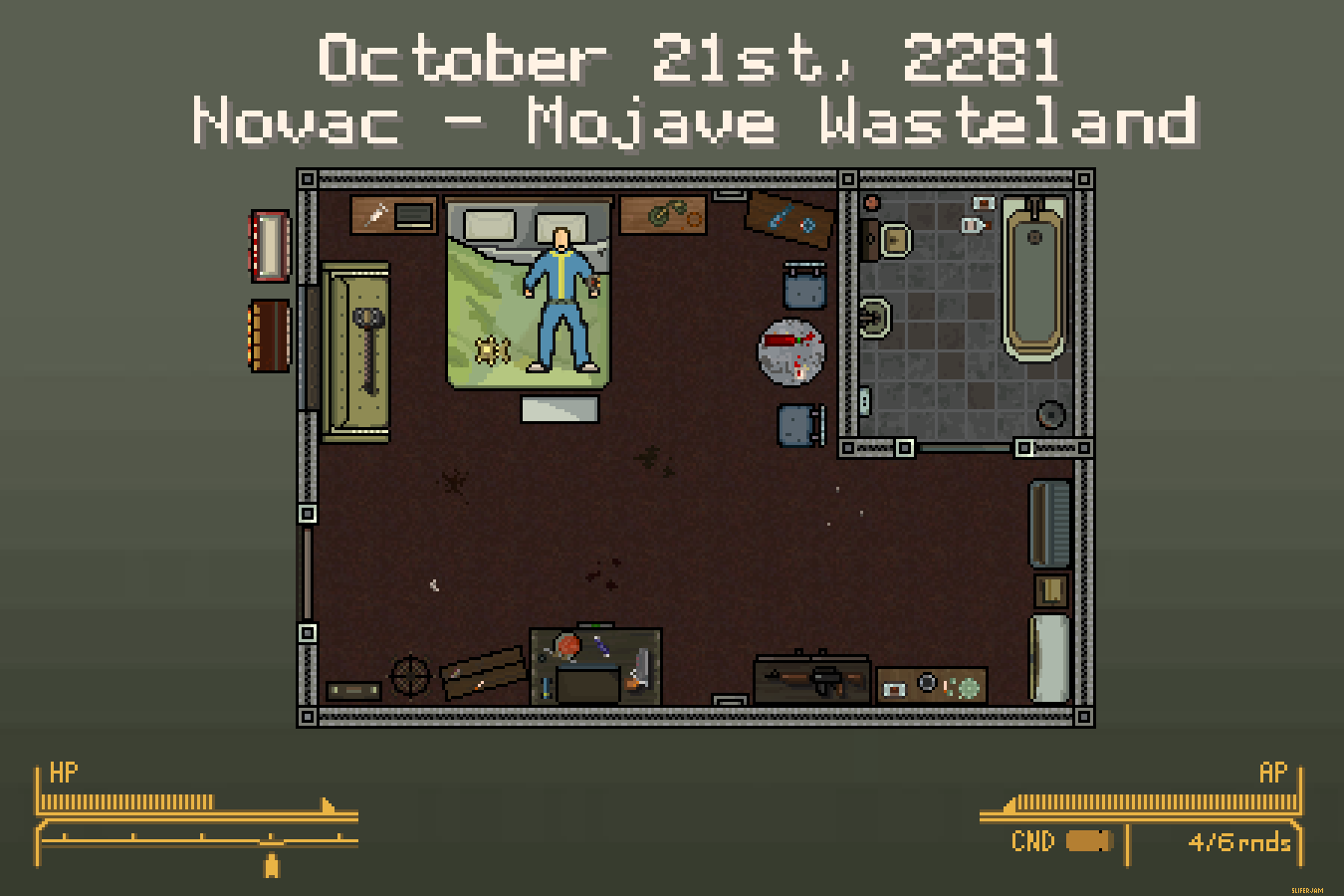 This fallout and hotline miami mash up needs to happen