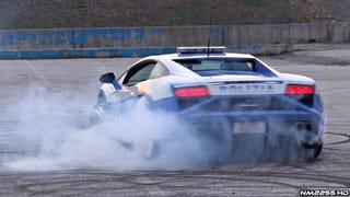 Watch This Actual Lamborghini Police Car Do Actual Smokey Donuts