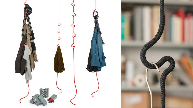 Takeout Planters, Hanging Rope Coatrack, and More