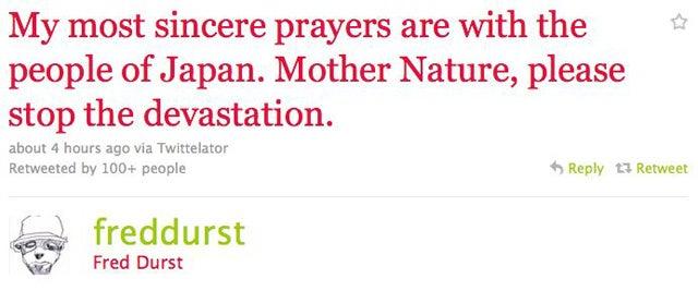 Celebs Turn To God After Japan Earthquake