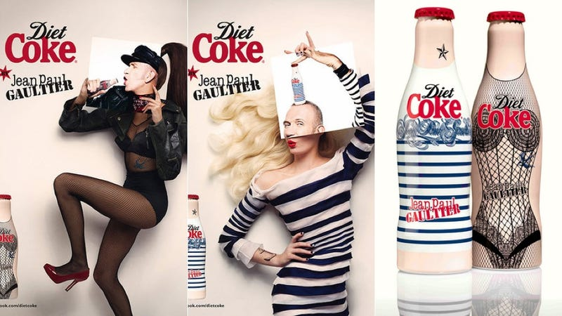 Lingerie-Styled Diet Coke Bottles Designed by Jean Paul Gaultier Are Downright Bizarre