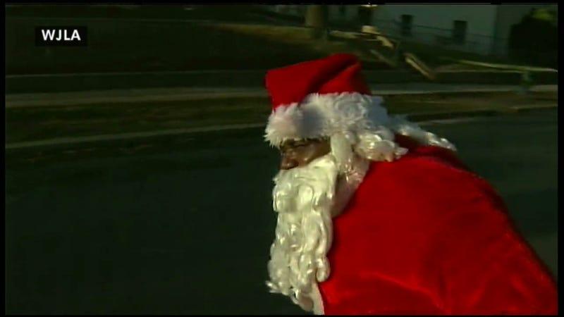 D.C. Santa Claus Shot With Pellet Gun In Front Of TV Crew