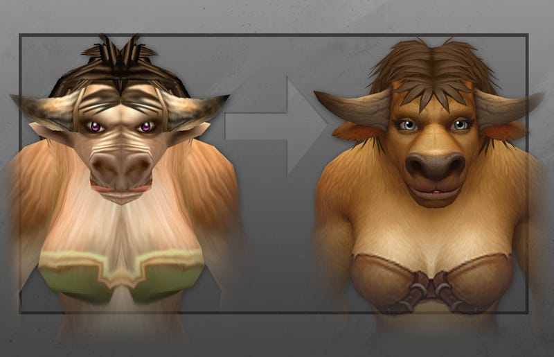 Here's What World Of Warcraft's New Tauren Will Look Like