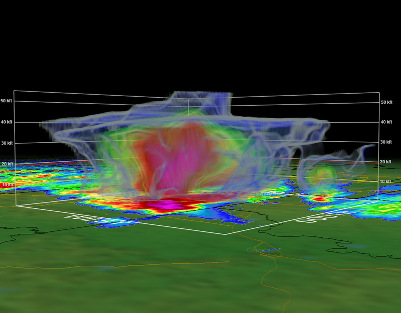 Towering Supercells in Arkansas Produce Golf Ball Size Hail