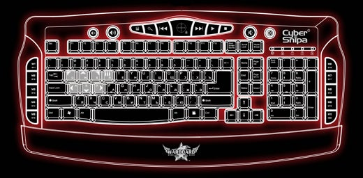 Cyber Snipa Warboard Gives Gamers 20 Programmable Macro Keys