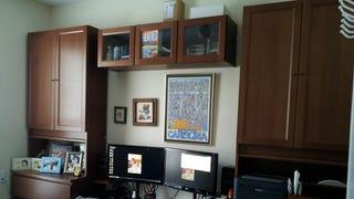 Latest IKEA hack - MALM 4-drawer chest + BILLY bookshelves w/doors = Hutch