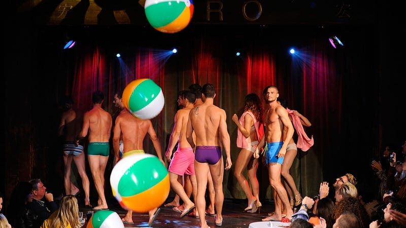 Scenes from the Scantily Clad All Male Underwear Show