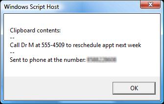 Lifehacker Code: Clipboard2Phone (Windows)