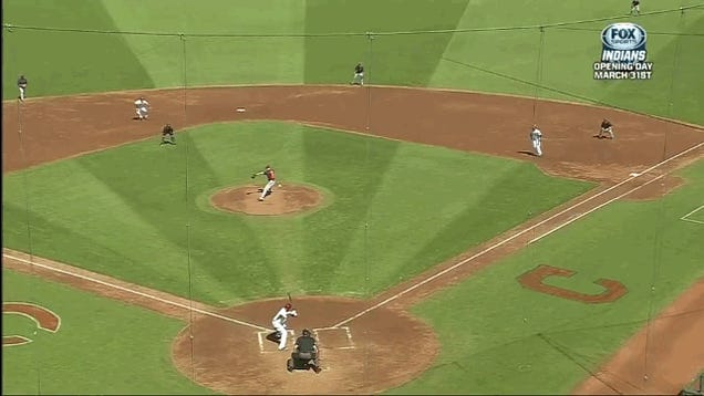 Brandon Phillips Line Drive Absolutely Rips Ump In The Dick