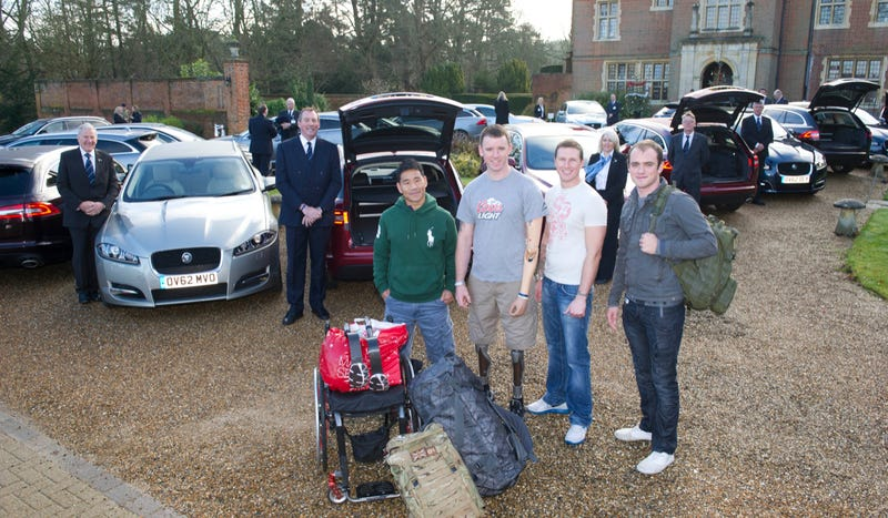 Wounded British Troops Get Rides Home For Christmas In Jaaaaaag Wagons