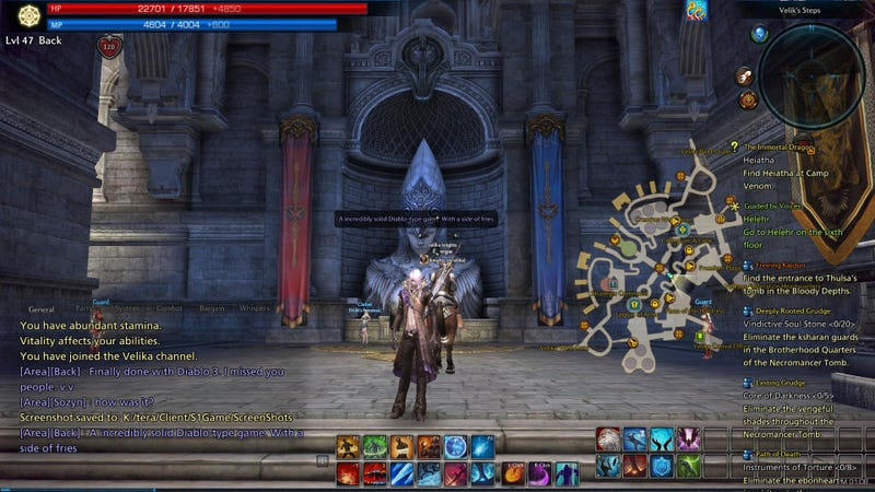 Tera MMO Log Part 2, Supplemental: Look at All That Rested XP
