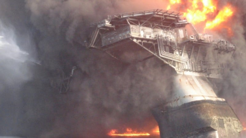 Surreal images of the Deepwater Horizon disaster, taken minutes after the first explosion