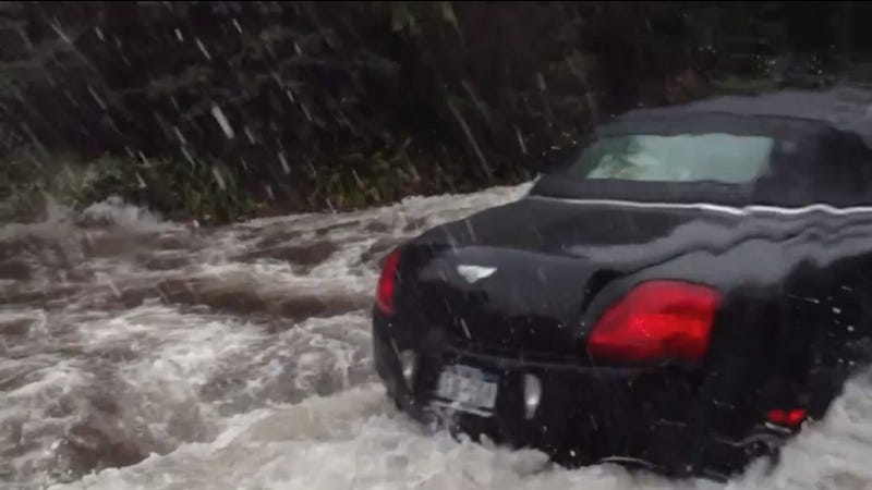 Watch A Couple Bros Destroy Their Bentley In Sandy's Flooding