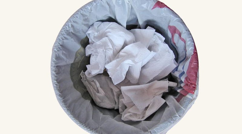 Put Dryer Sheets at the Bottom of Trash Cans to Ward Off Stench