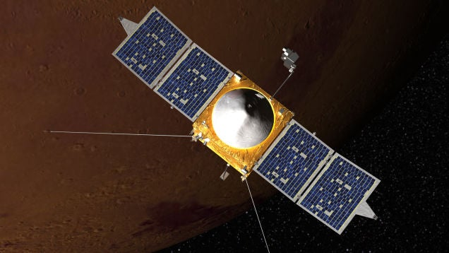 Watch NASA's MAVEN Spacecraft Enter Martian Orbit Right Here, Right Now