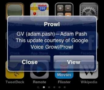Google Voice Growl Pushes SMS Alerts to Your iPhone