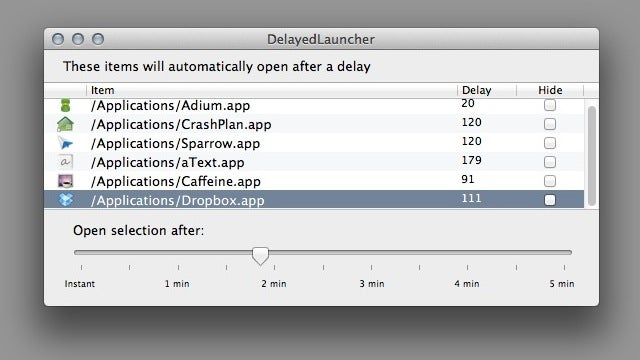 DelayedLauncher Delays the Startup Time of Login Items