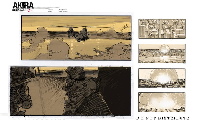 Unused storyboards show what the American Akira could've looked like