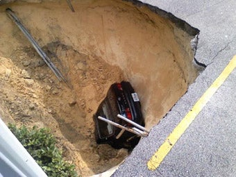 Florida Sinkhole Swallows Toyota Camry