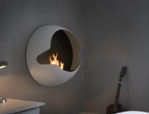 Vauni Cupola Fireplace Mounts Like, But Is Classier Than, a Flat-Screen TV