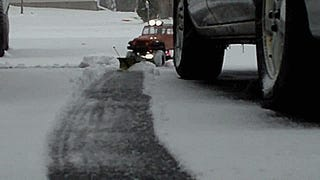 How to plow 1 inch of snow