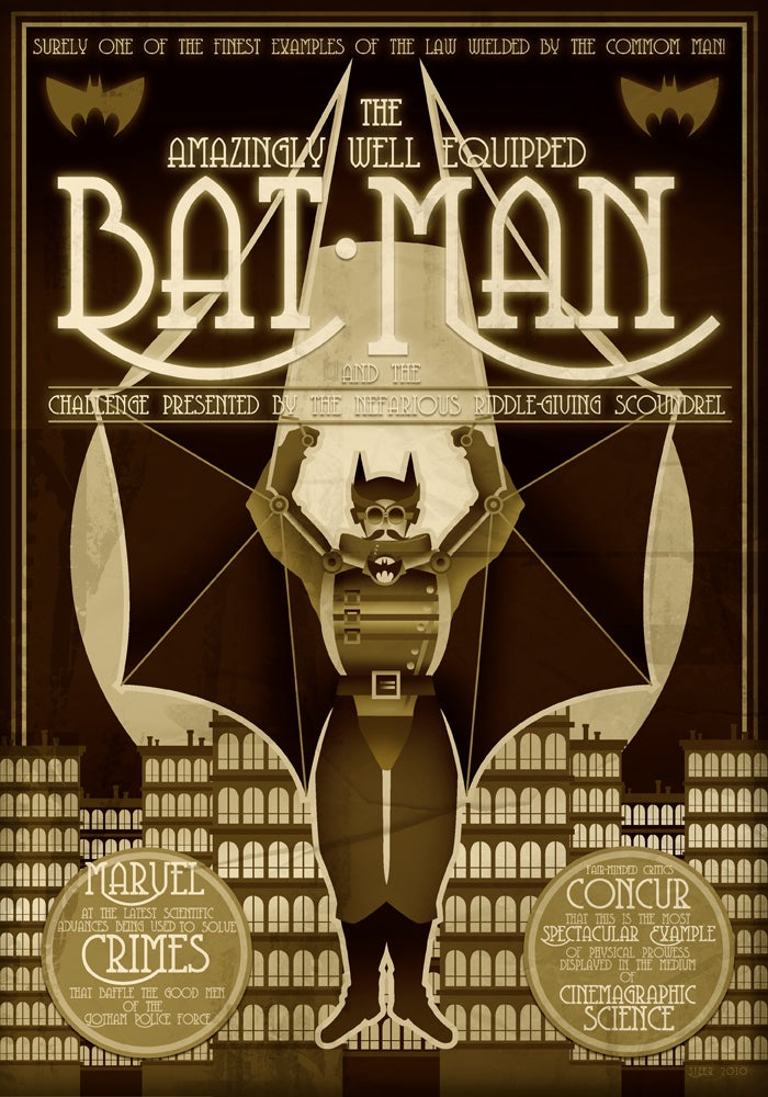 What if Batman was a steampunk cinema hero?