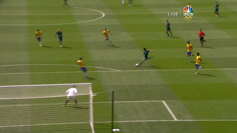 Mexico Leads Brazil 1-0 At The Half Thanks To This Goal 29 Seconds Into The Match