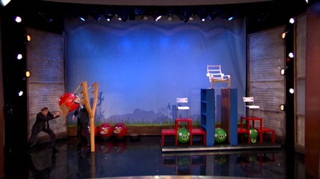 Conan O'Brien Plays the World's Biggest Game of Angry Birds