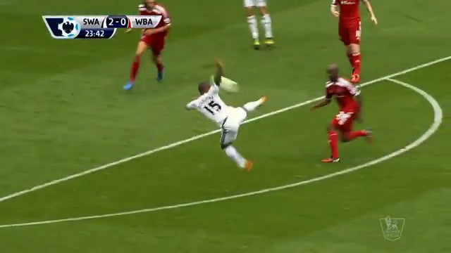 Wayne Routledge Scores With A Beautiful Chest-High Volley
