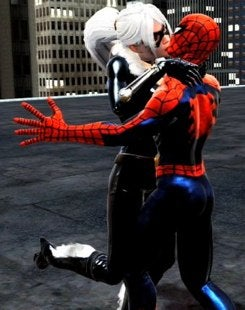 Tricia Helfer Purrs For Spider-Man