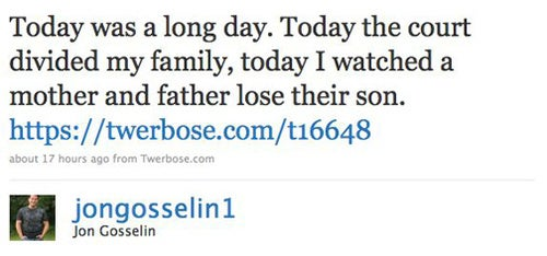 Jon Gosselin Tweets About Court Appearance
