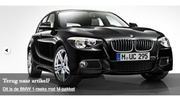 This is the new BMW 1 Series with M pack
