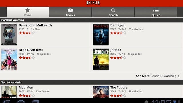 Netflix App for Android Gets Updated to Support Honeycomb Tablets