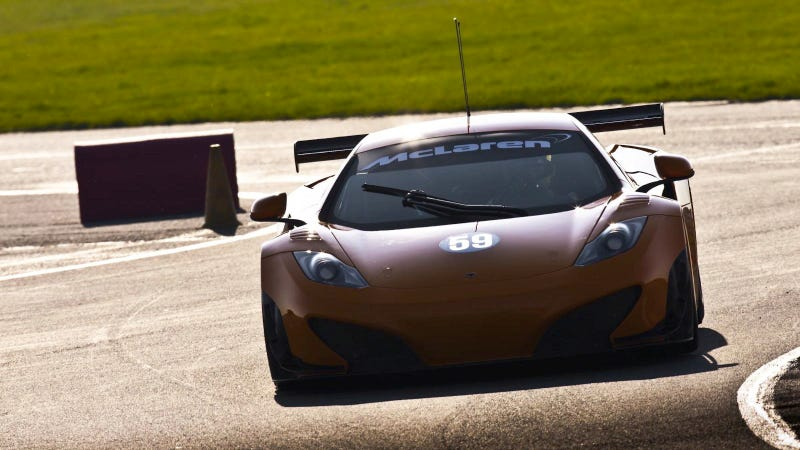 McLaren MP4-12C racecar gets inaugural shakedown