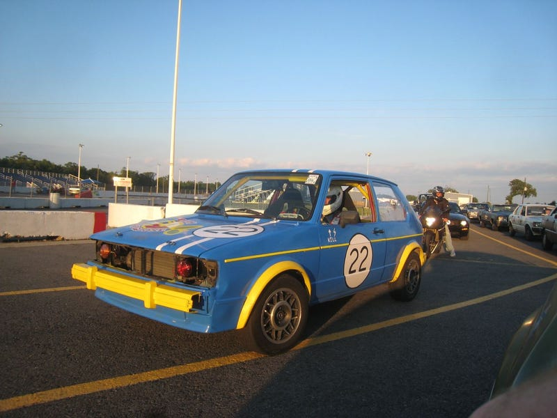 Break Out The Calendars: LeMons Versus BABE Rally Cars At The Dragstrip!