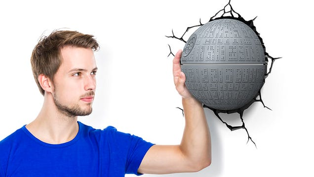 The Death Star Crashing Through Your Wall Makes For a Great Night Light