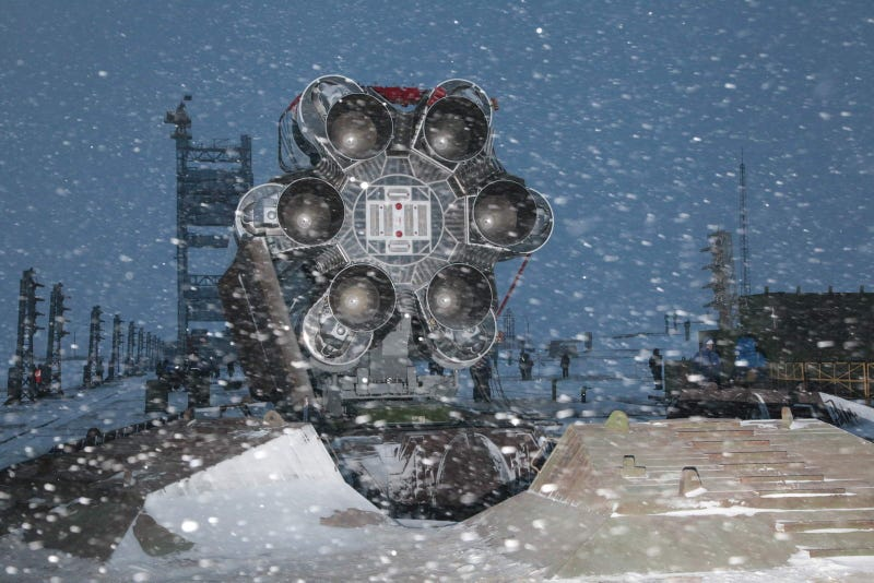 Russian Rocket Hardware Looks Even More Badass in a Blizzard