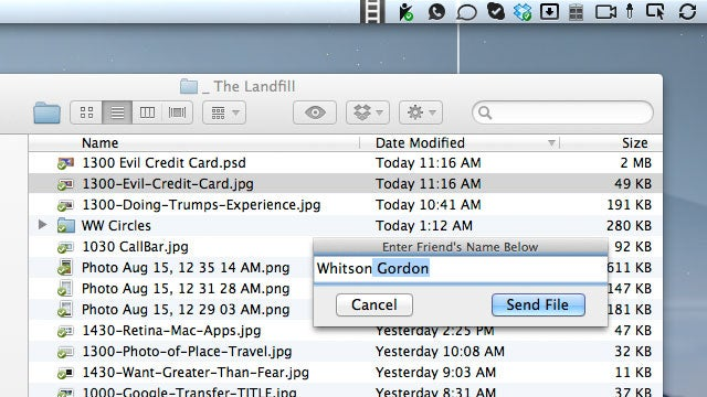 SendRail Sends Files from Your Desktop to Facebook Friends and Gmail Contacts in a Near Instant