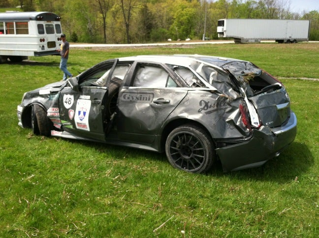 CTS-V Wagon Crash Photos