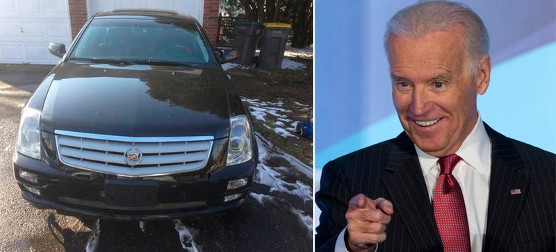 Now You Can Own Joe Biden's (Maybe) Sweet Cadillac STS