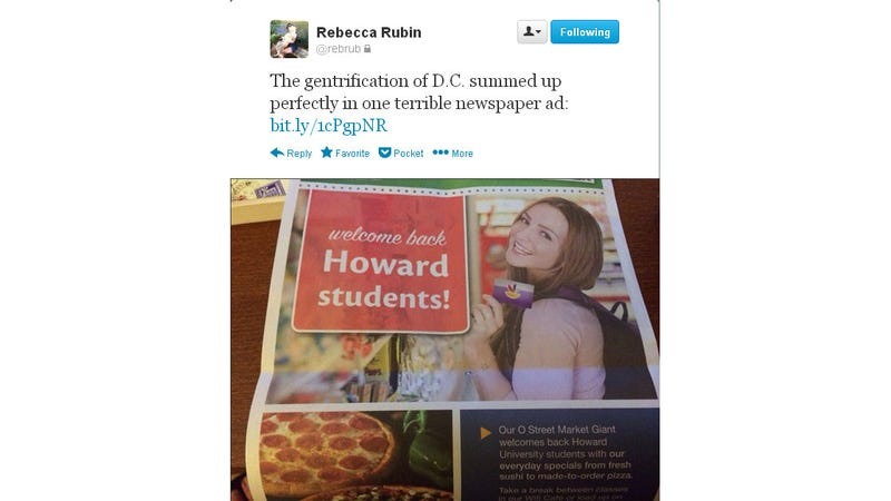 DC Newspaper Ad Welcomes Howard Students With Photo of White Woman