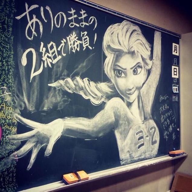 frozen chalkboard art