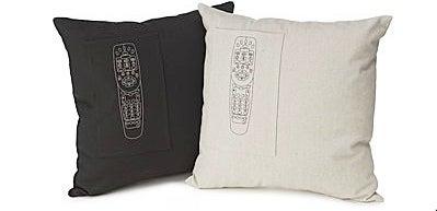 Pocket Pillow Holds Remotes, Jabs Sides